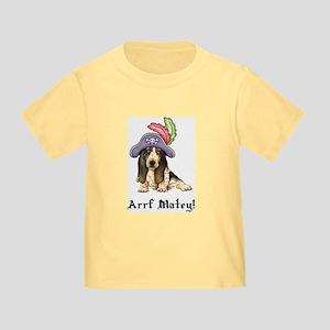 Basset Pirate Toddler T-Shirt