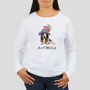 Basset Pirate Women's Long Sleeve T-Shirt