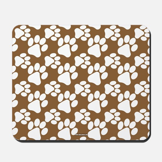 Dog Paws Brown Mousepad