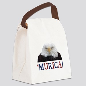 Murica! Bald Eagle Canvas Lunch Bag