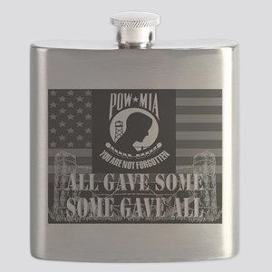 Pow-Mia All Gave Some Some Gave All Flask