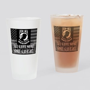 Pow-Mia All Gave Some Some Gave All Drinking Glass