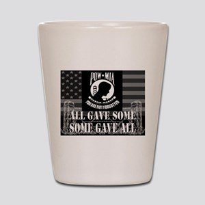 Pow-Mia All Gave Some Some Gave All Shot Glass