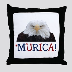 Murica! Bald Eagle Throw Pillow