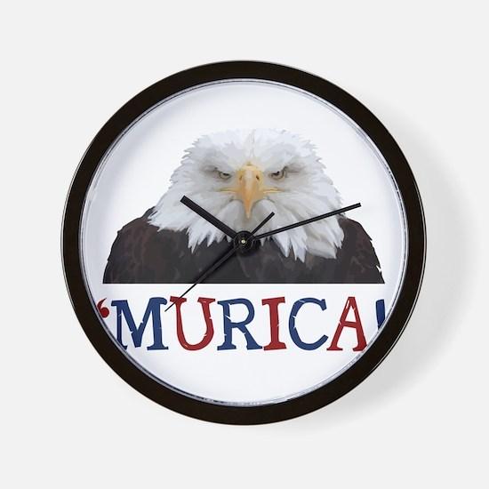 Murica! Bald Eagle Wall Clock