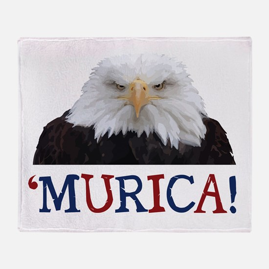 Murica! Bald Eagle Throw Blanket