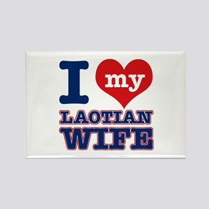 I love my Laotian Wife Rectangle Magnet