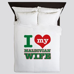 I love my Maldivian Wife Queen Duvet