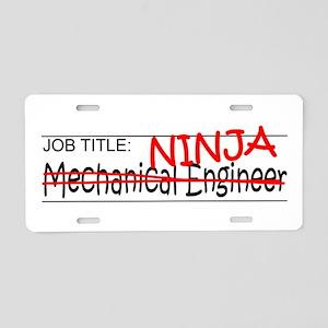 Job Ninja Mech Eng Aluminum License Plate