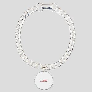 Job Ninja Mech Eng Charm Bracelet, One Charm