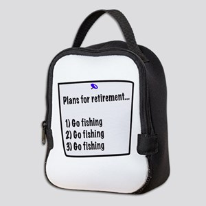 Retirement Plans (fishing) Neoprene Lunch Bag