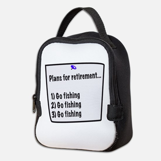 Retirement Plans (fishing) Neoprene Lunch Bag