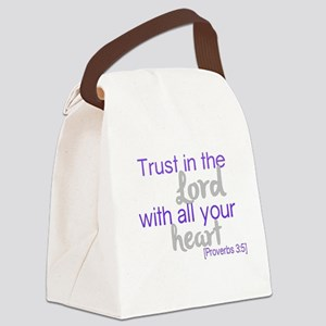 Trust in the Lord Canvas Lunch Bag
