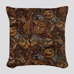 ANIMAL SAFARI JUNGLE PATTERN Woven Throw Pillow