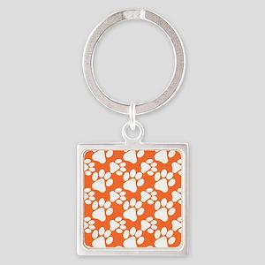 Dog Paws Clemson Orange Keychains