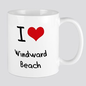 I Love WINDWARD BEACH Mug