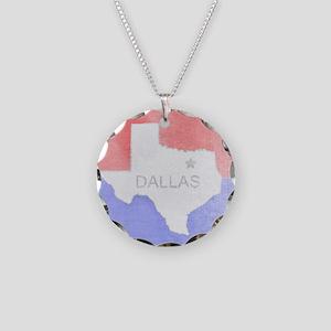 Vintage Dallas Flag Necklace