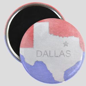 Vintage Dallas Flag Magnet