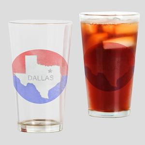 Vintage Dallas Flag Drinking Glass