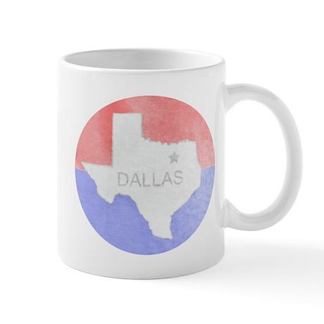 Vintage Dallas Flag Mug