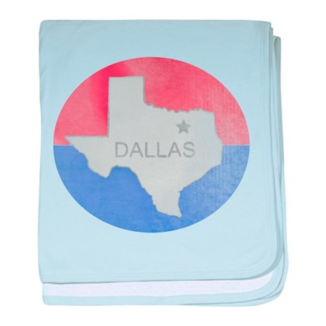 Vintage Dallas Flag baby blanket