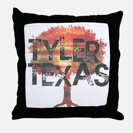 Tyler Texas Tree Throw Pillow