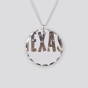 Texas Coffee and Stars Necklace