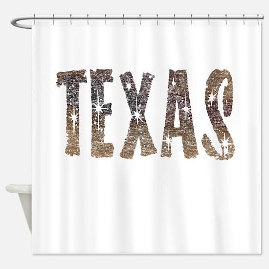 Texas Coffee and Stars Shower Curtain
