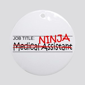 Job Ninja Med Asst Ornament (Round)