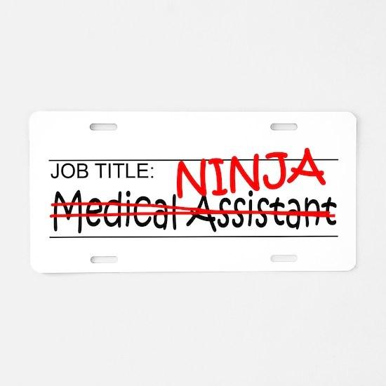 Job Ninja Med Asst Aluminum License Plate