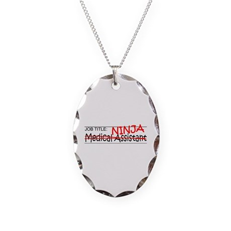 Job Ninja Med Asst Necklace Oval Charm