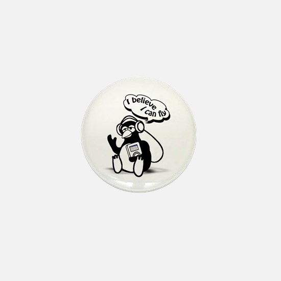 Penguin Dreamer Mini Button