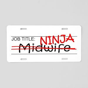 Job Ninja Midwife Aluminum License Plate