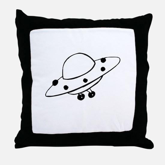 Alien UFO Throw Pillow