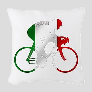 Italian Cycling Woven Throw Pillow