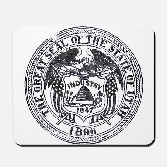 Vintage Utah Seal Mousepad