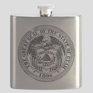 Vintage Utah Seal Flask