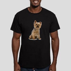Yorkshire Terrier Men's Fitted T-Shirt (dark)