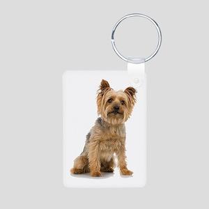 Yorkshire Terrier Aluminum Photo Keychain