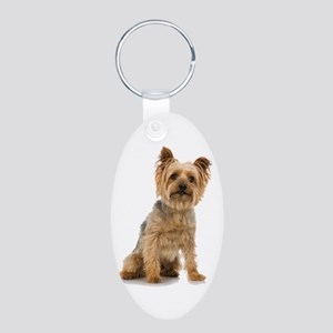Yorkshire Terrier Aluminum Oval Keychain