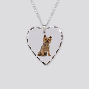 Yorkshire Terrier Necklace Heart Charm