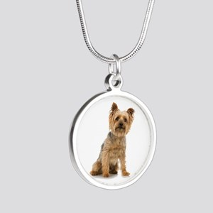 Yorkshire Terrier Silver Round Necklace