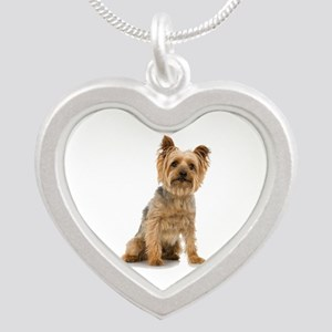 Yorkshire Terrier Silver Heart Necklace