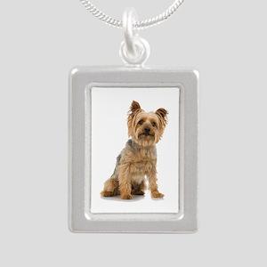 Yorkshire Terrier Silver Portrait Necklace