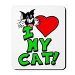"I Love My ""Tuxedo"" Cat Mousepad"