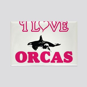 I Love Orcas Magnets