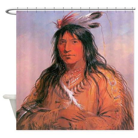 Bear Claw Warrior Shower Curtain