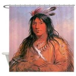Bear Claw Warrior Shower Curtain