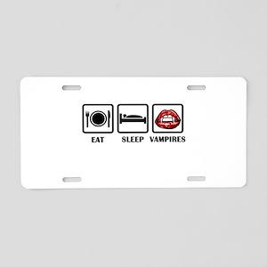 Eat Sleep Vampires Aluminum License Plate