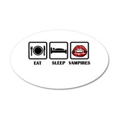 Eat Sleep Vampires Wall Decal
